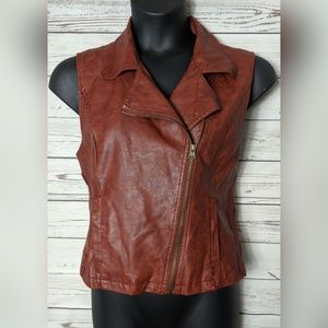 BKE Outerwear XL Rust Faux Leather Vest